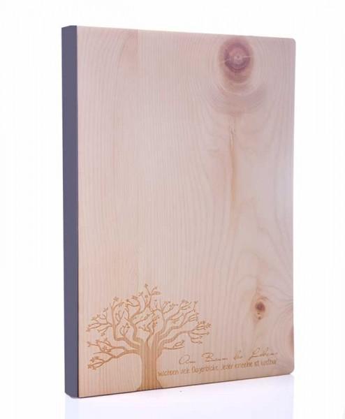 Zirbenholz Notizbuch Baum des Lebens