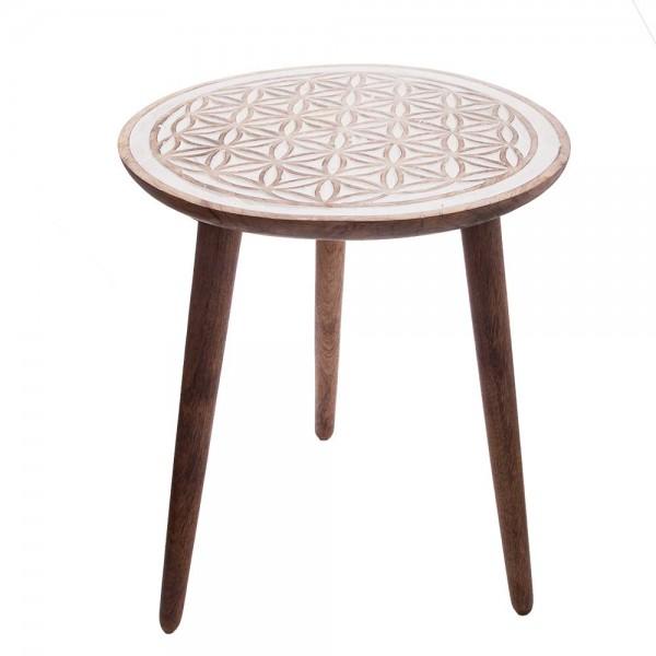 """Tisch """"Blume des Lebens"""" - Weiß"""