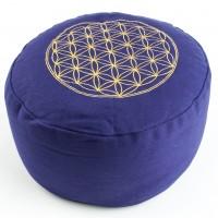Blume des Lebens Meditationskissen, lila