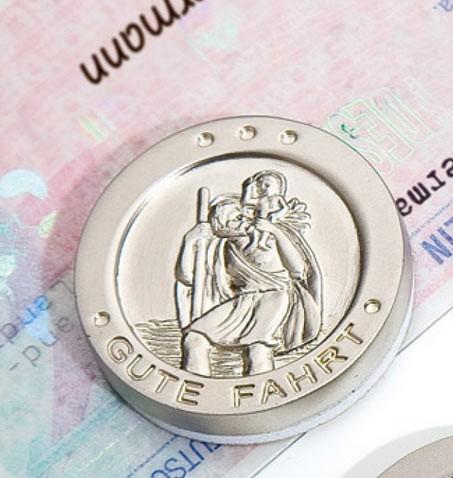 Der heilige Christophorus - Selbsklebende Medailie