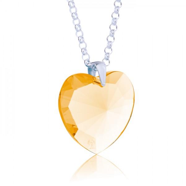 Elohim Kristall Herz Goldener Strahl