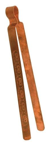 Kupferzange mit Gravur für Räucherkohle