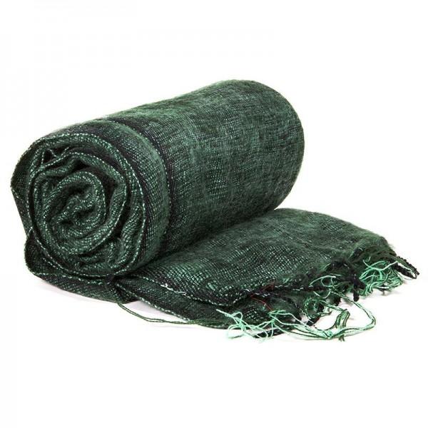 Schal für die Meditation Dunkelgrün