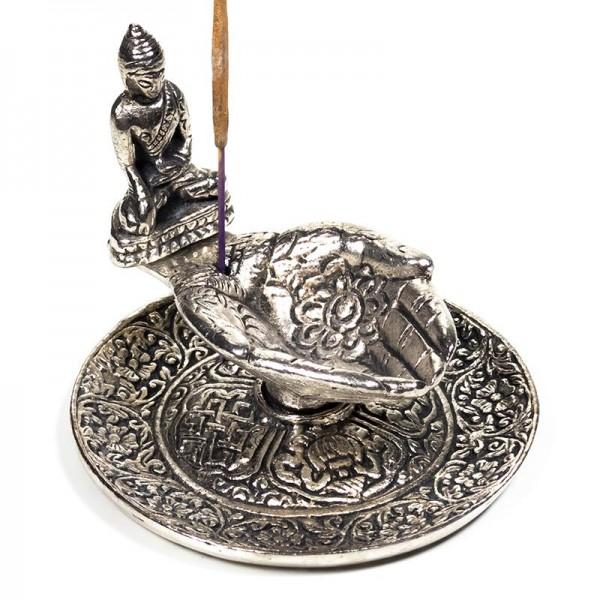 Räucherstäbchenhalter Hände mit Buddha