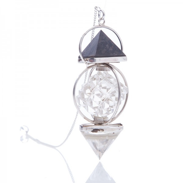 "Bergkristall-Pendel ""54 Pyramieden"""