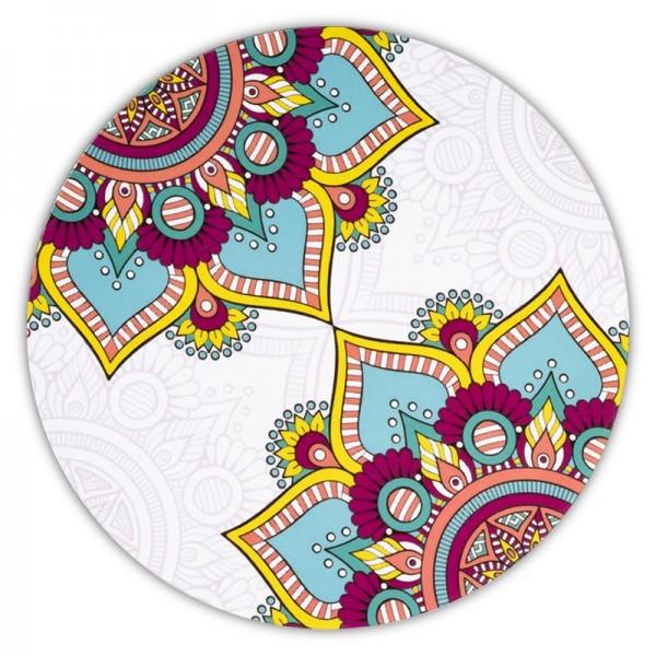 Mandala Untersetzer rund türkis Set 6 Stück