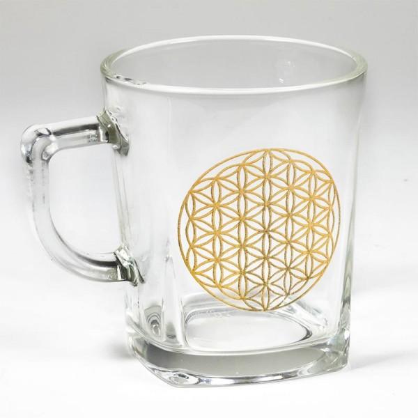 "Teeglas ""Blume des Lebens"""