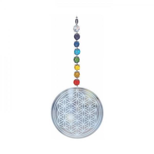"""Feng-Shui-Mobile """"Blume des Lebens"""" - Regenbogen"""