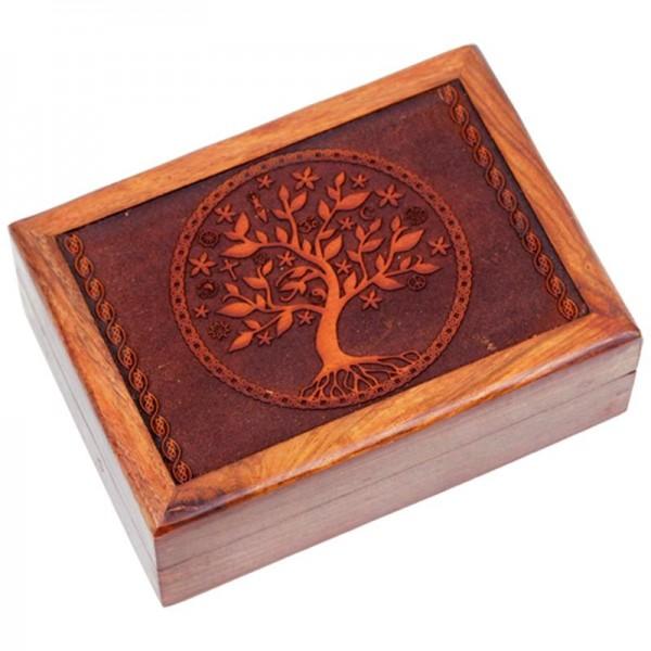 Tarotkistchen mit geschnitzter Baum des Lebens