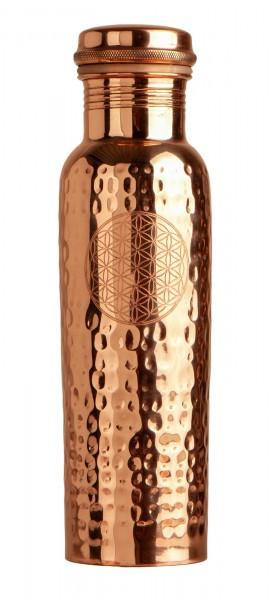 Trinkflasche aus Kupfer, mit der Blume des Lebens, 900ml