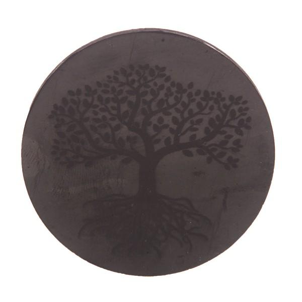 Schungitscheibe mit Lebensbaum