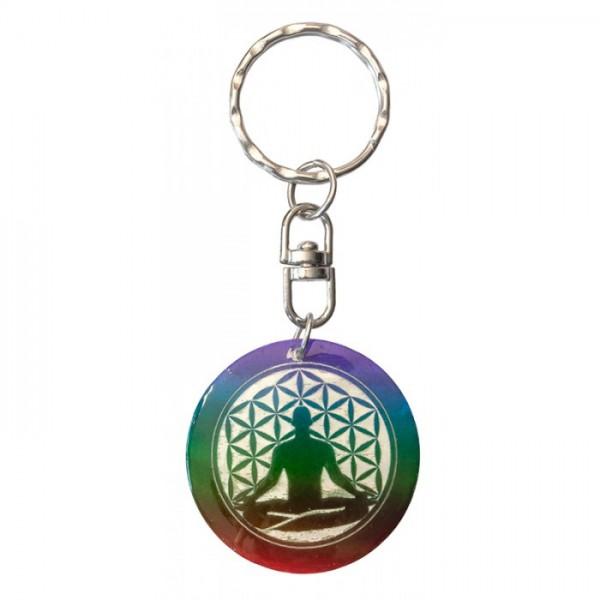 """Schlüsselanhänger """"Buddha Blume des Lebens"""""""