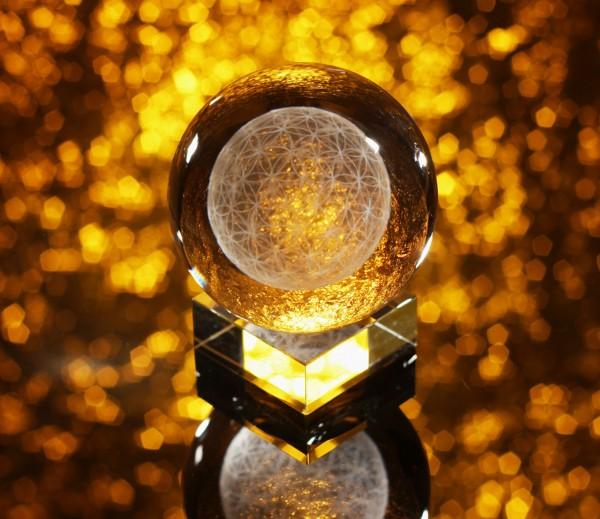 Blume des Lebens Sphärenkristallkugel