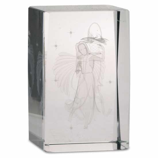 Kristall laser Blumen Engel