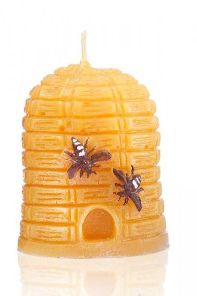 Bienenwachskerze im Korpdesign mit zwei Bienen