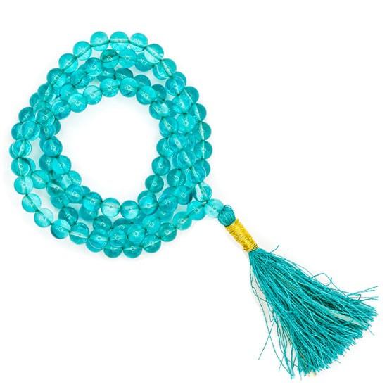 Mala Aqua Aura AA-Qualität 108 Perlen