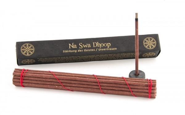 Traditionelle Tibetische Räucherstäbchen mit Stäbchenhalter