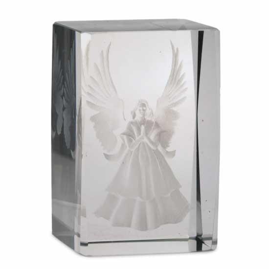 Kristall laser gesegnete Engel rechteckig
