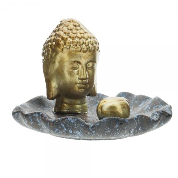 """Räucherstäbchenhalter """"Buddhakopf"""""""