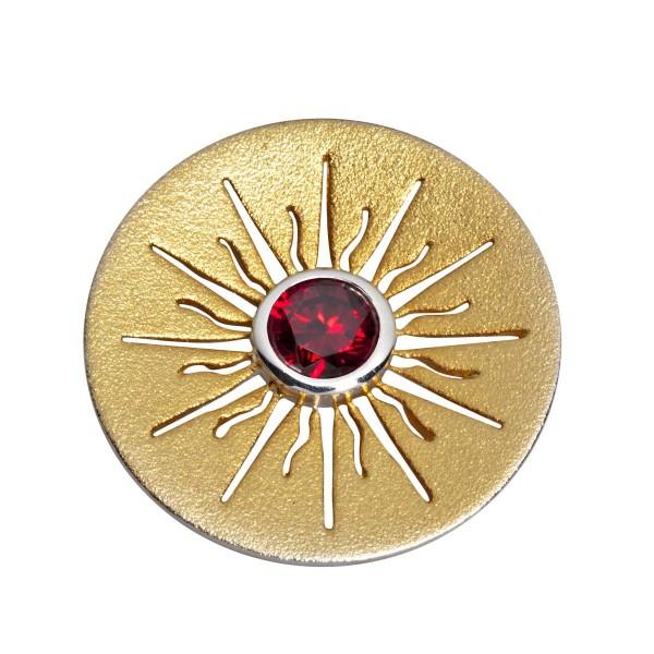 Ursprung - Anhänger - teilvergoldet, mit Zirkonia
