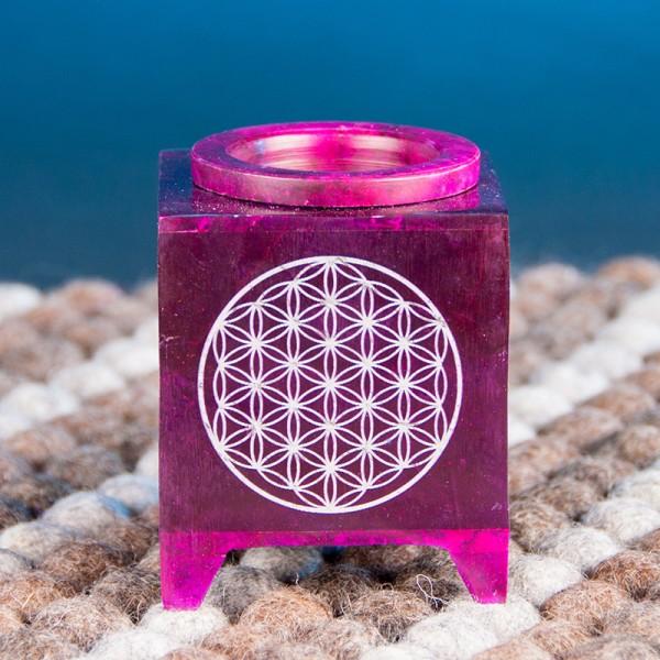 Aromalampe - Blume des Lebens, violett