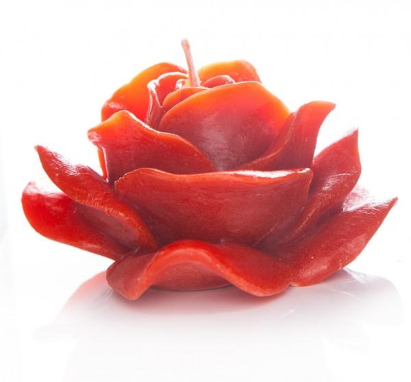 """Bienenwachskerze """"Rose"""" Rot"""