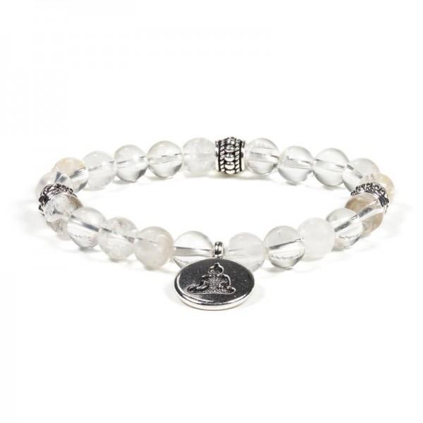 """Armband """"Buddha"""" mit Bergkristall"""