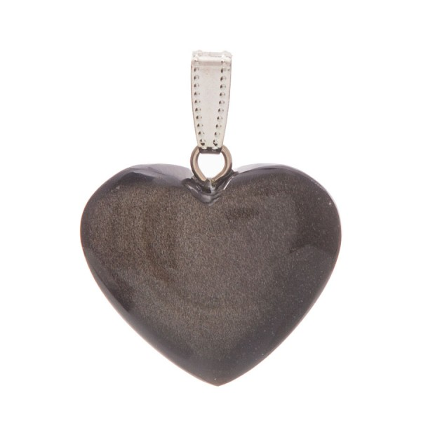 Obsidian-Herz-Anhänger, groß