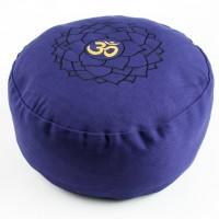 Kronenchakra Meditationskissen mit Buchweizen gefüllt 36 x 15 cm