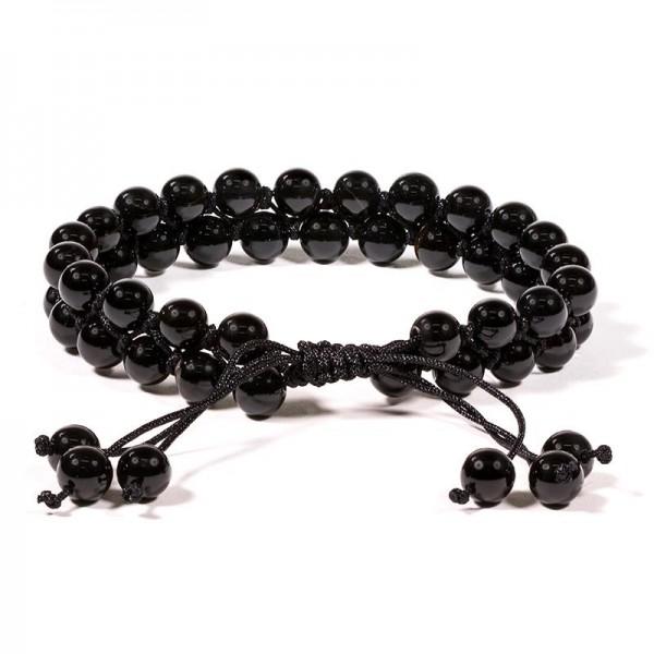 Armband schwarzer Achat
