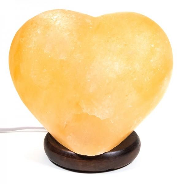 Salzkristall-Lampe Herz