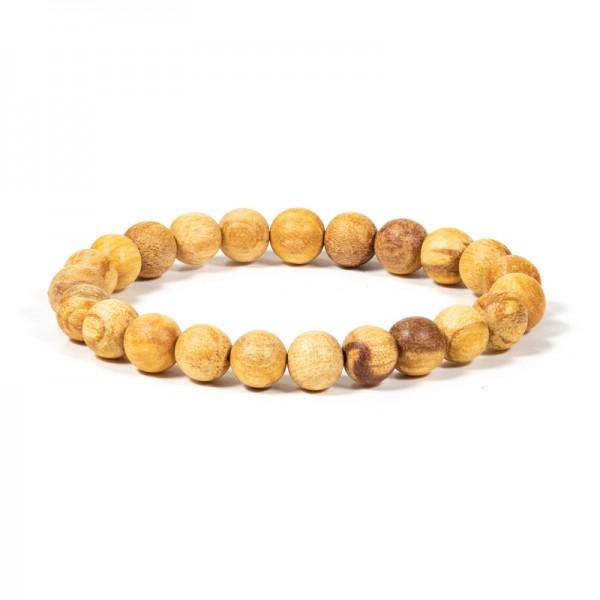 Palo Santo Armband runde Perlen M elastisch