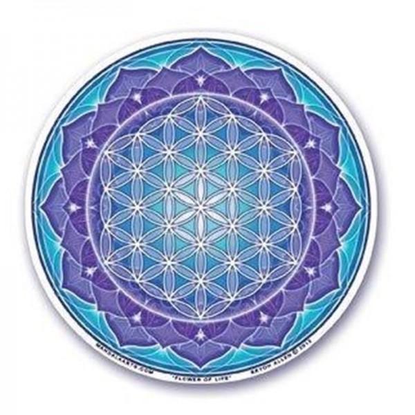 Fensterbild Blue Flower of Life