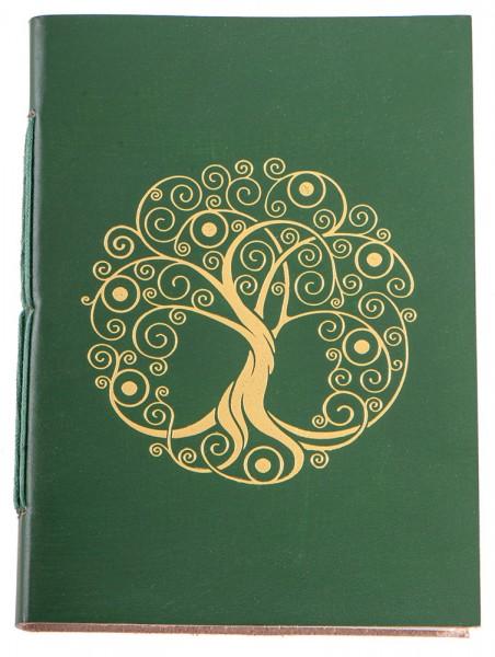 Schreibbuch Lebensbaum grün/gold 144 Seiten