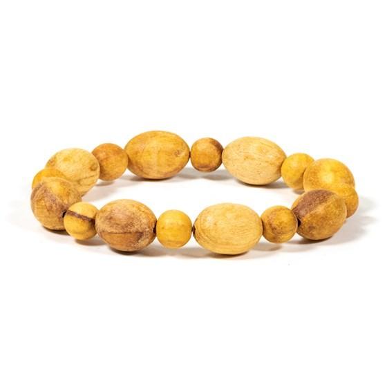 Palo Santo Armband runde und ovale Perlen