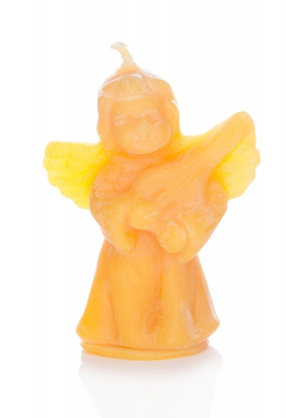 """Bienenwachskerze """"Engel mit Harfe"""""""