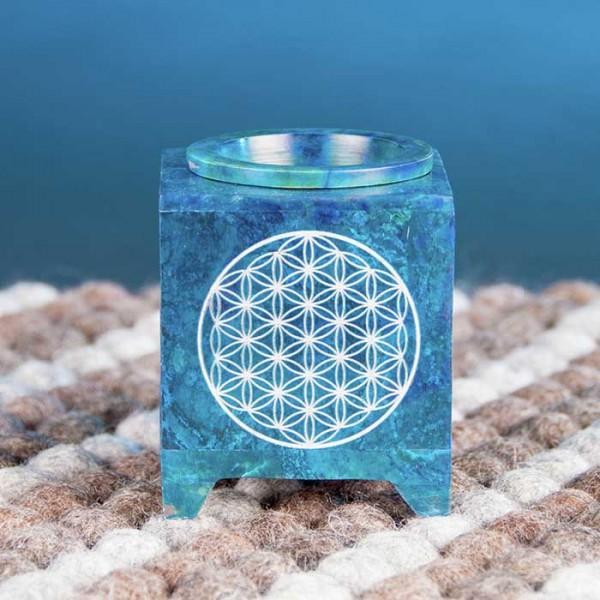 Aromalampe - Blume des Lebens blau