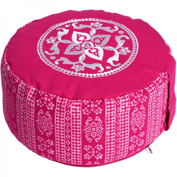 Medtitaionskissen Classic BLOCK PRINT pink