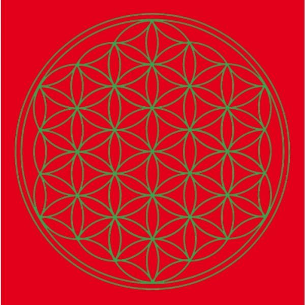 "Leinwanddruck ""Blume des Lebens"" Rot klein"