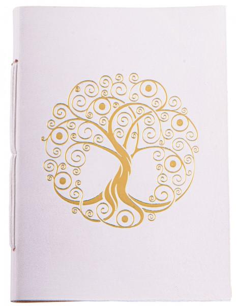 Schreibbuch Lebensbaum weiß/gold 144 Seiten