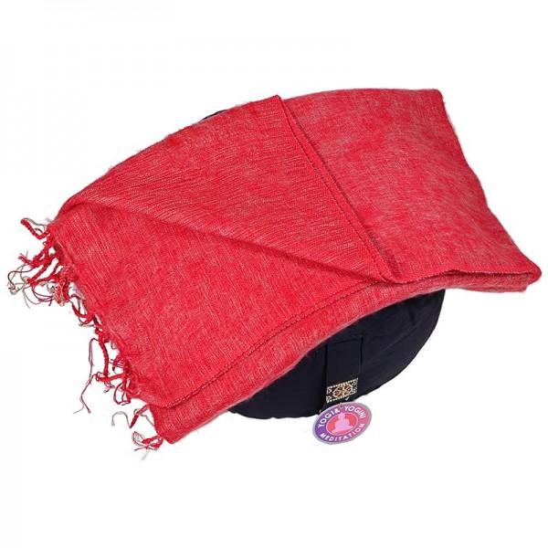 Schal für die Meditation Rot
