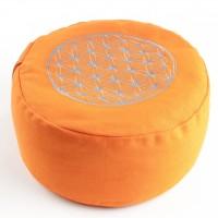 Blume des Lebens Meditationskissen, orange