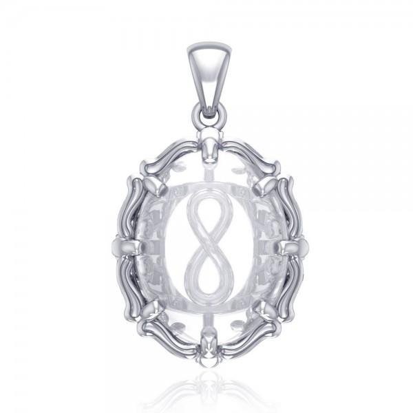 Infinity-Anhänger mit Bergkristall