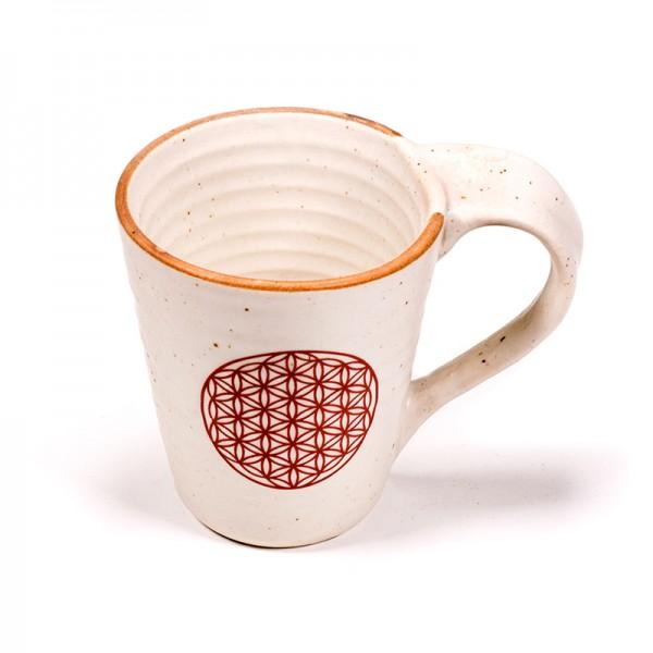 Tee- bzw. Kaffeebecher Blume des Lebens