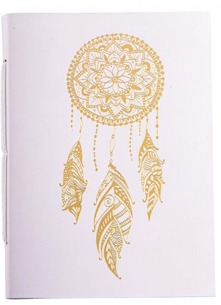 Schreibbuch Traumfänger weiß/gold 144 Seiten
