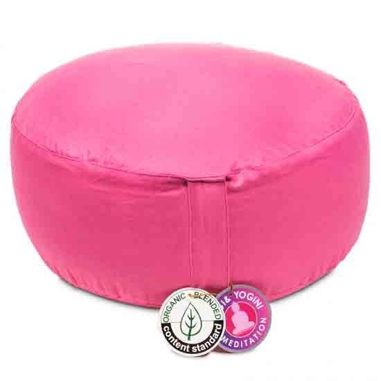 Meditationskissen rosa (pink) Biobaumwolle