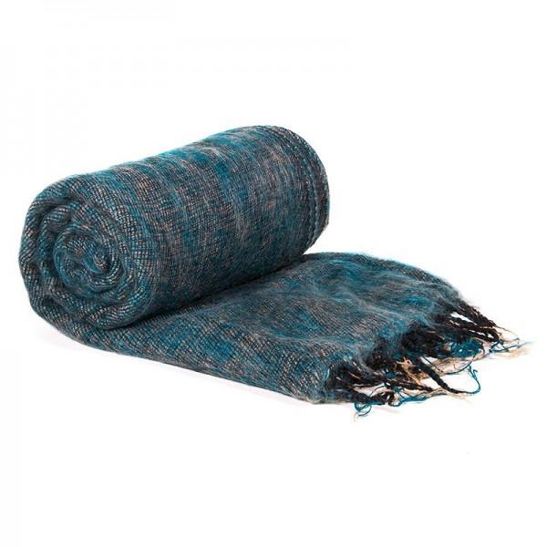 Schal für die Meditation Petrol