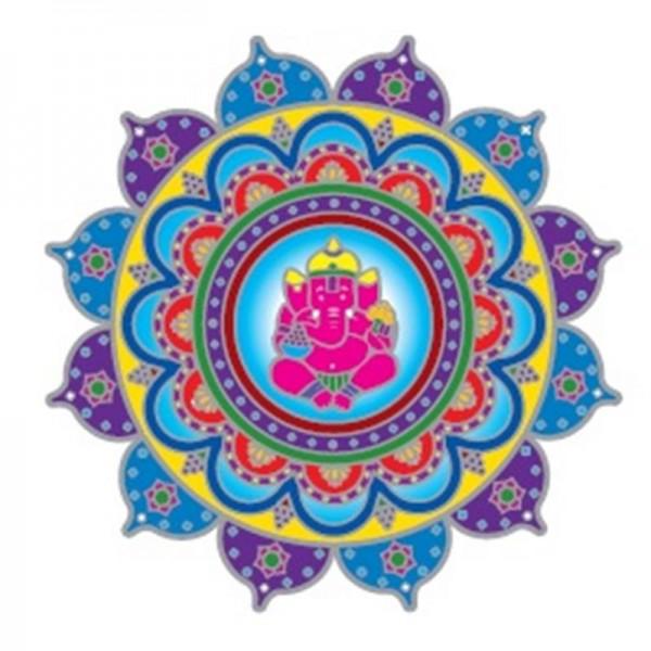Fensterbild Happy Ganesha