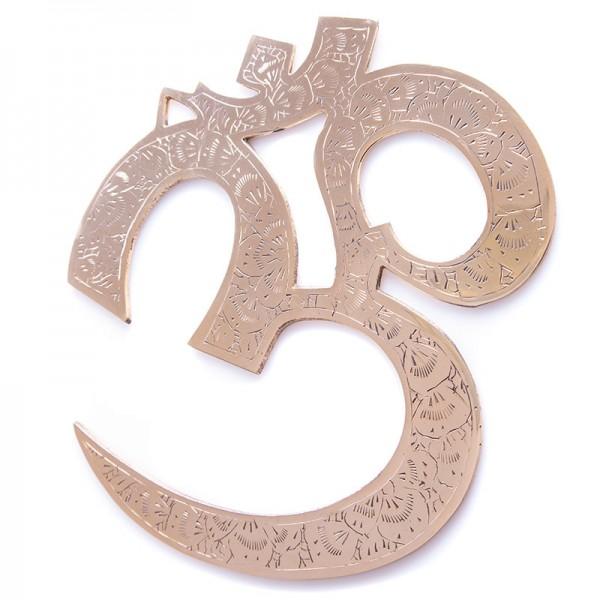 OM-Wandsymbol aus Messing, groß