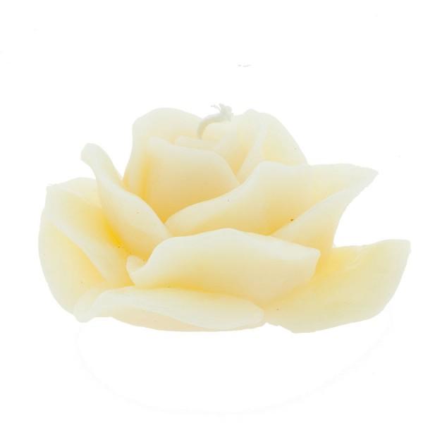 "Bienenwachskerze ""Rose"" Weiß"